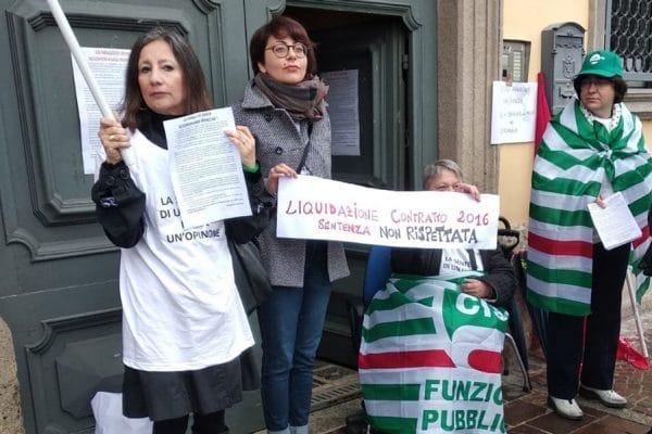 In sciopero i lavoratori del Comune di Fara Gera d'Adda
